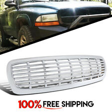 Front Grill Grille Horizontal billet Chrome Dodge Dakota fit years 1997 to 2004