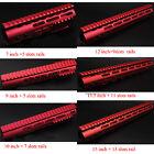 Red 7,9,10,12,13.5,15'' NSR Free Float Rail Mount Keymod Handguard /Rail Section