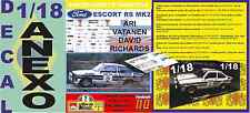 ANEXO DECAL 1/18 FORD ESCORT RS 1800 MK II ROTHMANS A.VATANEN R.BRASIL 1981 (06)