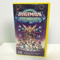 Digimon The Movie Digital Monsters VHS Tape Collectable
