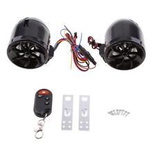 Waterproof Motorcycle Bike Audio FM Radio MP3 Player With 2 Speakers Black