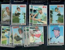 NEW!!! 1970 Topps Baseball Set Break Superstars Mays,Bench,Seaver,Banks COMB SH