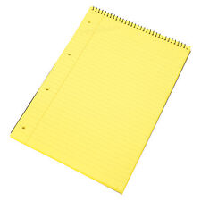 3 x Spiral Memory Aid A4 Yellow 160 Page Paper Notepad Refill Legal Writing Pads