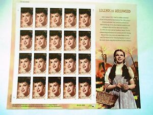 """LEGENDS of HOLLYWOOD  """"Judy Garland""""  FULL NEW MINT STAMPS"""