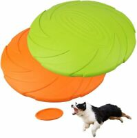 2 Pack 7'' Dog Frisbee Flying Disc Durable Toy Exercise Pet Training Tool Saucer