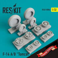 """ResKit 32-0006 Grumman F-14 A/B """"Tomcat"""" wheels set (resin wheels) 1/32"""