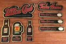 Lot Of 5 RARE Utica Club Beer Composite Signs! NEAR MINT!