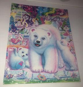 2014 LISA FRANK 2 Pocket Folder FANTASEA FAMILY Glitter POLAR BEAR PENGUIN WOLF
