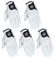 SG PACK OF 5 Men white Cabretta Leather Golf gloves Right & Left hand available