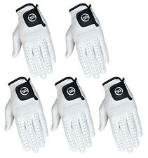 SG PACK OF 5 Men white Cabretta Leather Golf gloves  Right Left hand available