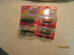 4-Mini-Metals 1:87 Scale Delivery Trucks, New In Pack , HO Scale