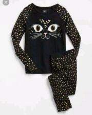 New BABY Gap 6 12 months Glitter CAT PJ Pajamas girl