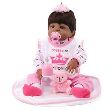 "22"" African American Reborn Baby Doll Realistic Newborn Black Girl Doll Gifts"