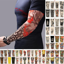 3PAIRS ashion Nylon Temporary Tattoo Sleeve Arm Stockings Tatoo For Men Women