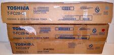 (SET OF 3) Genuine Toshiba T-FC28-C, T-FC28-M, T-FC28-Y oem Toner Cartridges