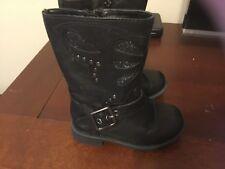 Cherokee black boots, little girls size 7 medium