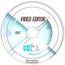 DVD AVI MPEG MP4 VIDEO MOVIE EDITING EDITOR SOFTWARE PROGRAM x 2 - WINDOWS & MAC
