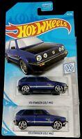 Hot Wheels 68/250 - 2019 Metalflake Blue VW Golf MK2 Volkswagen 7/10 PR5 Lot 2