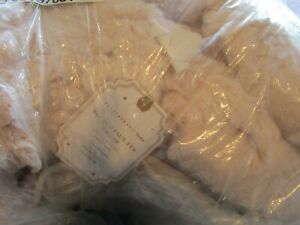Pottery Barn Teen fur faux pink ruched throw 45 X 60 new with tag