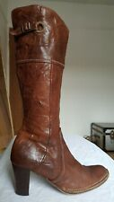Lavorazione Artigiana brown leather knee length high heel boots 6