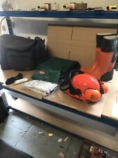 New Stihl Ppe Kit Rubber Chainsaw Boots, Helmet With Ear Defenders & S/M Chaps
