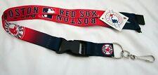 Red Sox Large Print Logo Helmet NFL Keychain/ID Holder Detachable Lanyard-New!
