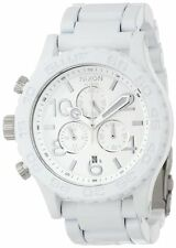 Nixon 42-20 White Dial SS Chronograph Quartz Male Watch A037-1255