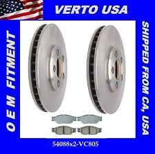 Verto USA Set Of 2 Disc Brake Rotors & Ceramic Pads- Front  54088X2-VC805