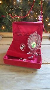 Waterford Crystal 2007 Victorian Skate Ornament 1st Edition NIB with Hanger