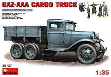MiniArt 1/35 35127 WWII German/Soviet GAZ-AAA Cargo Truck Vehicle w/5 Crew