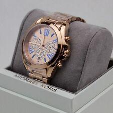NEW AUTHENTIC MICHAEL KORS BRADSHAW CRYSTALS ROSE GOLD WOMEN'S MK6321 WATCH
