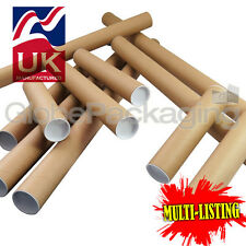 More details for strong cardboard postal tubes a0 a1 a2 a3 a4 in 50mm & 44.5mm with end caps