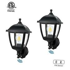 FUDESY 2-Pack Motion Sensor Outdoor Wall Lanterns,Corded-Electric Plastic Porch