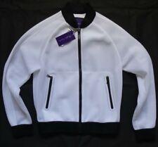 Ralph Lauren Purple Label White Suspension Mesh Bomber Jacket Gr S