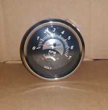 Outboard 7000 RPM Boat Tachometer and Volt Gauge