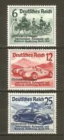 DR Nazi Reich Rare WW2 Stamp Overprint Nürburgring Race Automobile Exhibition'39