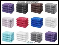 Pack Of 2 Or 4 Luxurious Bath Sheets 100% Cotton Bathroom Shower Towel Sheet New