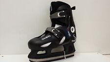 OXELO play 3 Ice skate noir réglable 34-36 enfants patin à glace-sale