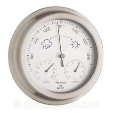 Stainless Steel Weather Station / Barometer - Indoor / Outdoor - 1st Class Post!
