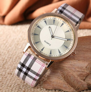 Uhr Armbanduhr Analog Modisch Rund Watch Damen Quartz