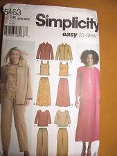 Simplicity 5463 Easy to Sew Women's Pants, Skirt, Tank, Jacket, & Top 20W-28W