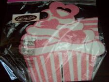 New Valentine Cupcake Shaped Table Decor Centerpiece Candy Pink Glitter Hearts