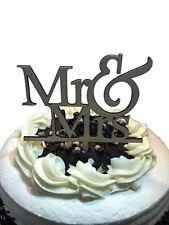 Mr & Mrs Wedding Cake Topper - Celebration Cake Decorating Pick Supplies Wooden