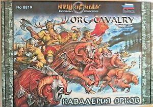 """ZVEZDA FANTASY MODEL KIT 28 mm """"RING OF RULE"""" ORC CAVALRY ART 8819"""