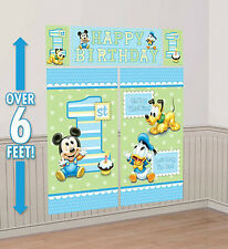 BABY MICKEY MOUSE boy's 1st Happy Birthday Scene Setter first Party wall decor