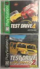 Test Drive Off-Road 2 & 4 Bundle - Lot Of 2 PlayStation PS1 Games - Tested