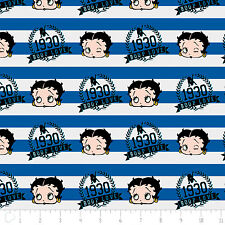 Red White & Betty Boop Stripes Royal Blue Camelot 100% Cotton Fabric by the yard
