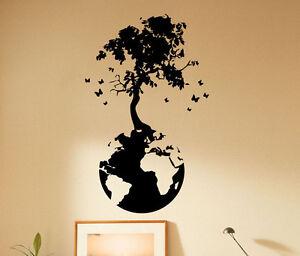Tree Planet Wall Decal School Vinyl Sticker Classroom Unique Decor Ideas 73(nse)