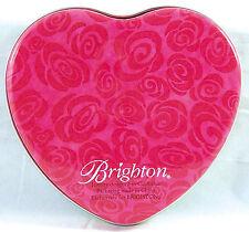 "Brighton Collectors Heart Shaped Tin Empty Container Trinket Keepsake Box 5,3/4"""