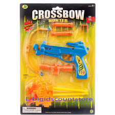 11 PCS SOFT Safety DART GUN CROSSBOW TOY SET CROSS BOW 4 ARROW Hunter Play Gift